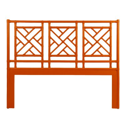 Chinese Chippendale Open-Frame Headboard Size: Twin, Finish: Orange Slice