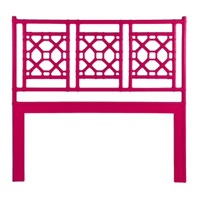 Lattice Open-Frame Headboard Size: King, Finish: Canary Yellow