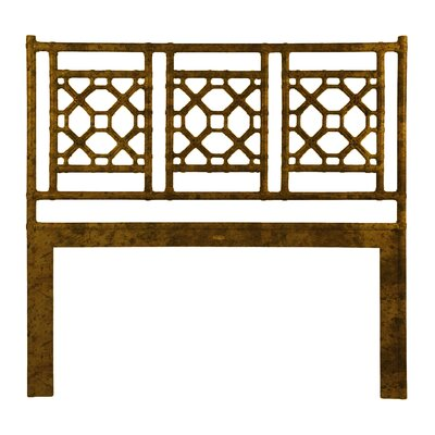 Lattice Open-Frame Headboard Size: Twin, Color: Tortoise