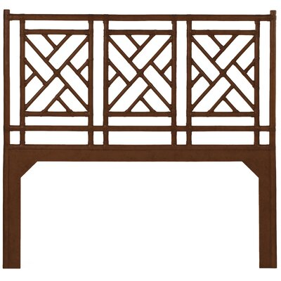Chinese Chippendale Open-Frame Headboard Size: Queen, Color: Golden Mahogany
