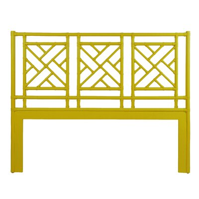 Chinese Chippendale Open-Frame Headboard Size: Queen, Finish: Canary Yellow