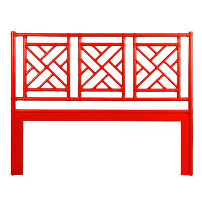 Chinese Chippendale Open-Frame Headboard Size: Twin, Color: Red Hot