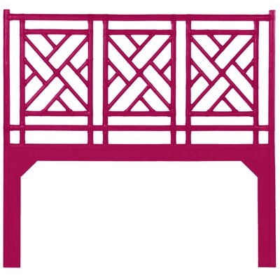 Chinese Chippendale Open-Frame Headboard Size: Twin, Color: Hisbiscus Pink