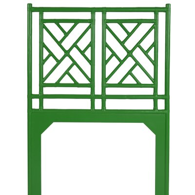 Chinese Chippendale Open-Frame Headboard Size: King, Color: Green Apple