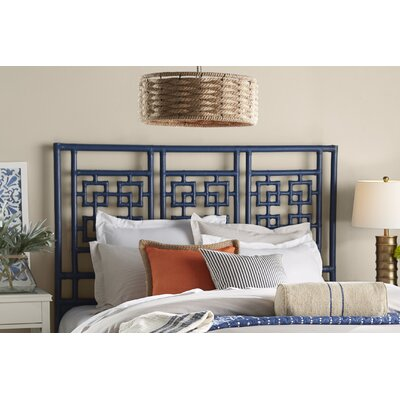 Palm Springs Open-Frame Headboard Size: King, Finish: Indigo
