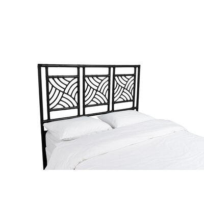 Whirlwind Open-Frame Headboard Color: Black, Size: King