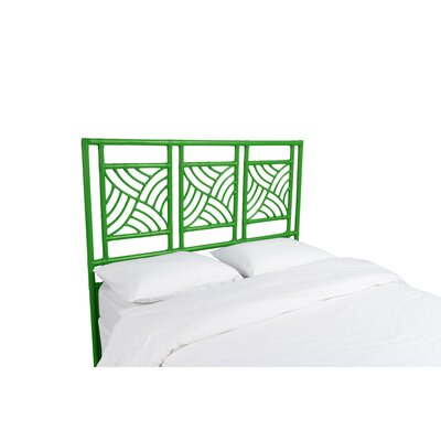 Whirlwind Open-Frame Headboard Color: Bright Green, Size: Queen