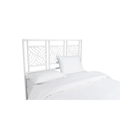 Whirlwind Open-Frame Headboard Color: Bright White, Size: Queen