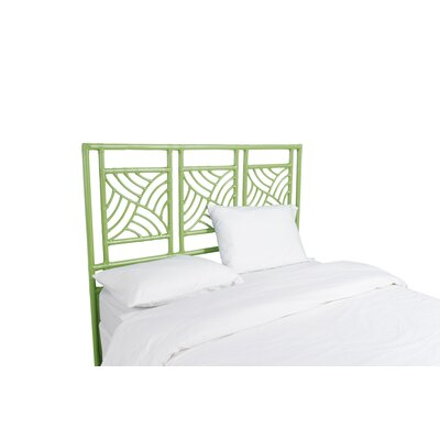 Whirlwind Open-Frame Headboard Color: Celery Green, Size: King