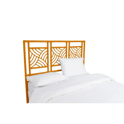 Whirlwind Open-Frame Headboard Color: Citrus Orange, Size: Queen
