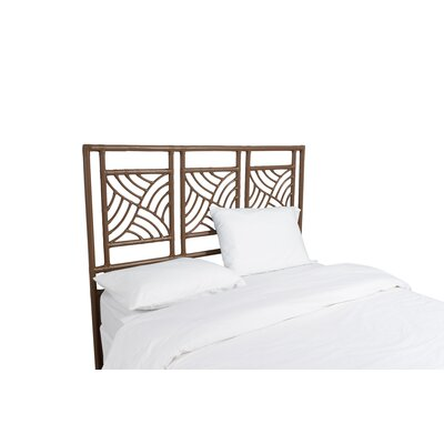 Whirlwind Open-Frame Headboard Color: Coffee Brown, Size: King