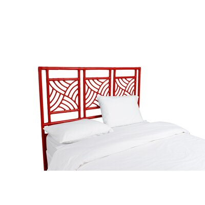 Whirlwind Open-Frame Headboard Color: Fire Red, Size: Twin