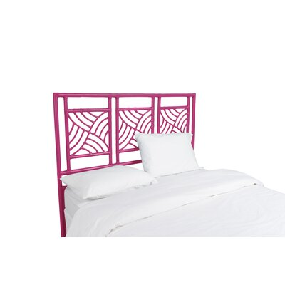 Whirlwind Open-Frame Headboard Color: Hot Pink, Size: Twin