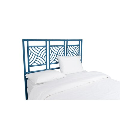 Whirlwind Open-Frame Headboard Color: Pacific Blue, Size: King