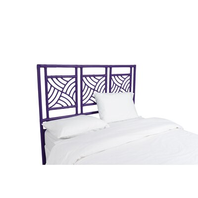 Whirlwind Open-Frame Headboard Color: Perfect Purple, Size: Queen