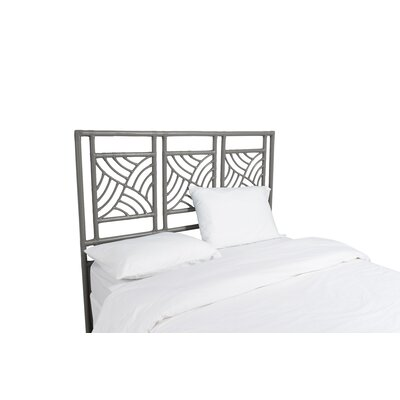 Whirlwind Open-Frame Headboard Color: Steel Gray, Size: King