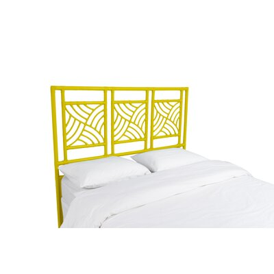 Whirlwind Open-Frame Headboard Color: Sunflower Yellow, Size: Queen