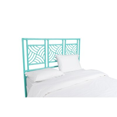 Whirlwind Open-Frame Headboard Color: Turquoise, Size: Queen