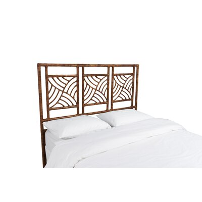 Whirlwind Open-Frame Headboard Color: Tortoise Shell, Size: Queen