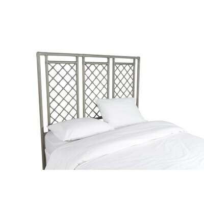 X and Diamond Open-Frame Headboard Color: Steel Gray, Size: King