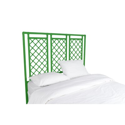 X and Diamond Open-Frame Headboard Finish: Bright Green, Size: King