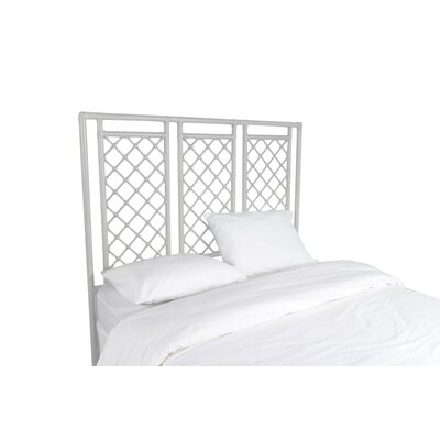 X and Diamond Open-Frame Headboard Color: Bright White, Size: Queen