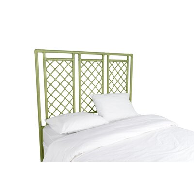 X and Diamond Open-Frame Headboard Color: Celery Green, Size: Queen