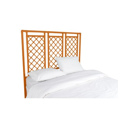 X and Diamond Open-Frame Headboard Color: Citrus Orange, Size: King