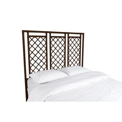 X and Diamond Open-Frame Headboard Color: Coffee Brown, Size: Queen