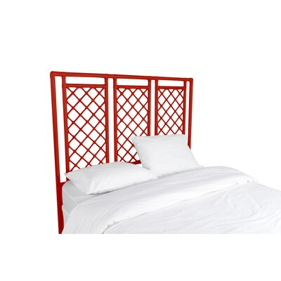 X and Diamond Open-Frame Headboard Finish: Fire Red, Size: Queen