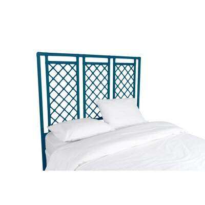 X and Diamond Open-Frame Headboard Finish: Pacific Blue, Size: Twin