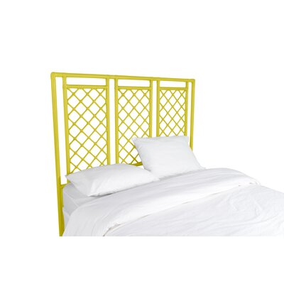 X and Diamond Open-Frame Headboard Finish: Sunflower Yellow, Size: King