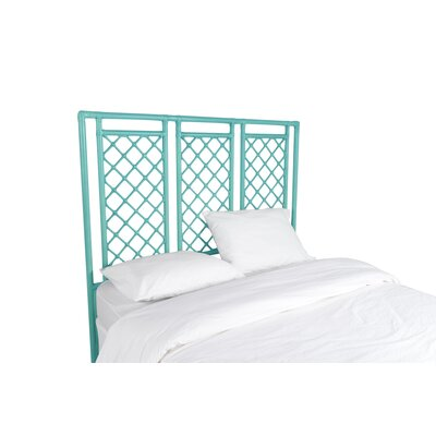 X and Diamond Open-Frame Headboard Color: Turquoise, Size: Queen