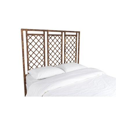 X and Diamond Open-Frame Headboard Finish: Tortoise Shell, Size: King