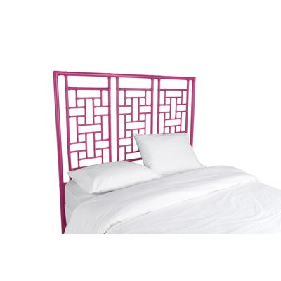 Ohana Open-Frame Headboard Color: Hot Pink, Size: Queen