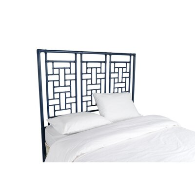 Ohana Open-Frame Headboard Color: Navy Blue, Size: Queen