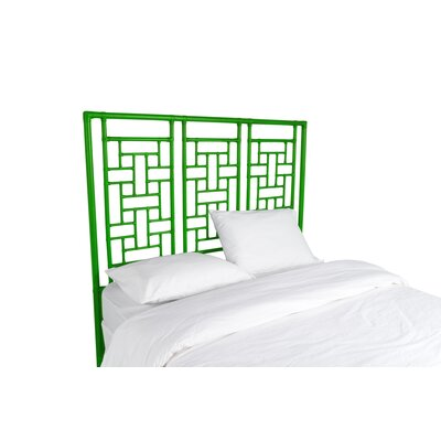 Ohana Open-Frame Headboard Color: Bright Green, Size: Queen