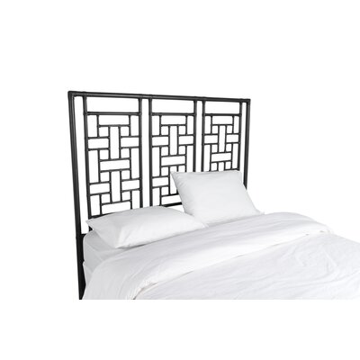 Ohana Open-Frame Headboard Color: Black, Size: Queen