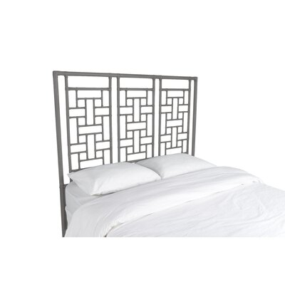 Ohana Open-Frame Headboard Color: Steel Gray, Size: Queen