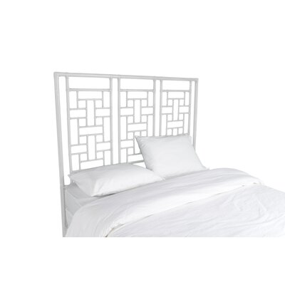 Ohana Open-Frame Headboard Color: Bright White, Size: Queen