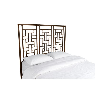 Ohana Open-Frame Headboard Color: Coffee Brown, Size: Queen
