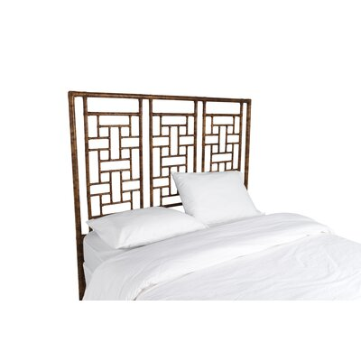 Ohana Open-Frame Headboard Color: Tortoise Shell, Size: Twin