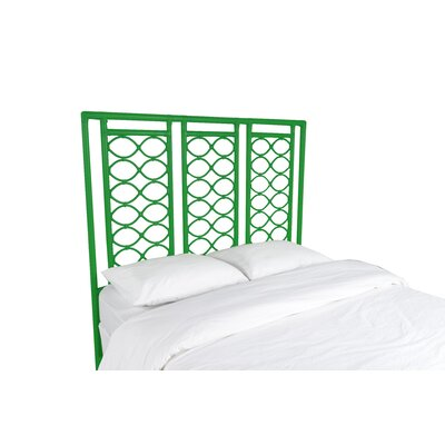 Infinity Open-Frame Headboard Color: Bright Green, Size: Queen