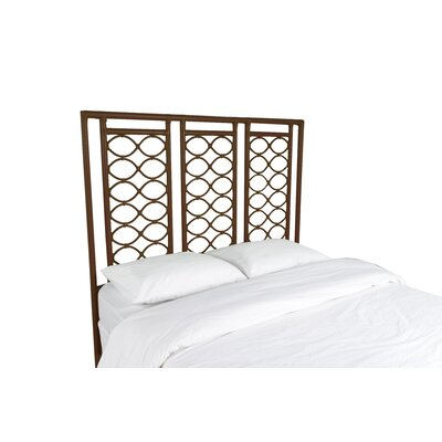 Infinity Open-Frame Headboard Color: Coffee Brown, Size: King