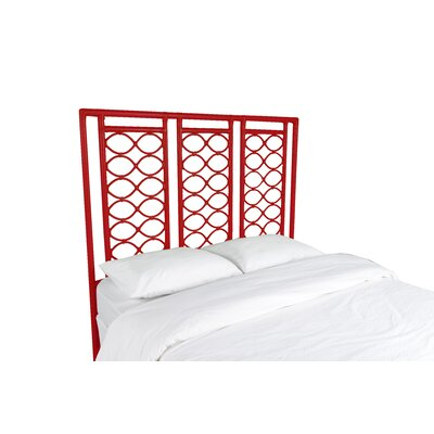 Infinity Open-Frame Headboard Finish: Fire Red, Size: King