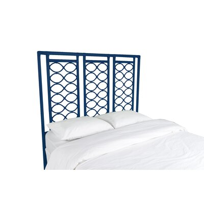 Infinity Open-Frame Headboard Color: Navy Blue, Size: Twin