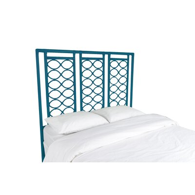 Infinity Open-Frame Headboard Finish: Pacific Blue, Size: Queen
