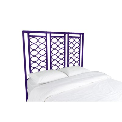 Infinity Open-Frame Headboard Finish: Perfect Purple, Size: King