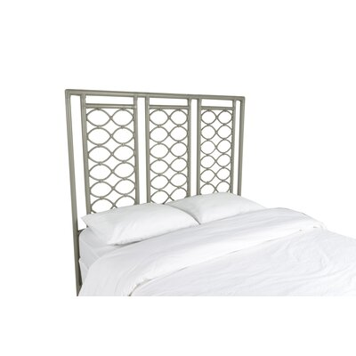 Infinity Open-Frame Headboard Color: Steel Gray, Size: King