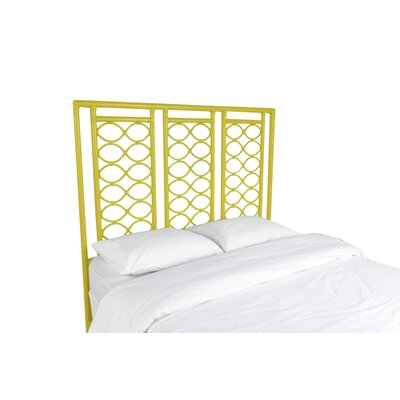 Infinity Open-Frame Headboard Color: Sunflower Yellow, Size: King